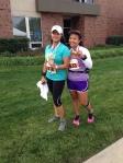 My running partner, Anitra, & I.