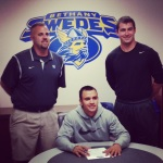 Nathan signing his Letter Of Intent to play baseball for the Bethany Swedes!